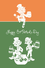 Leprechaun greeting Happy St. Patrick Day