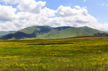Beautiful mountain landscape on a summer day