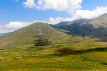 Caucasian mountains on a sunny summer day