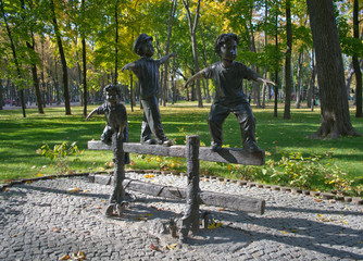 Bronze sculpture in the park