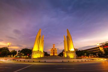 Democracy Monument in Sunset, Bangkok, Thailand