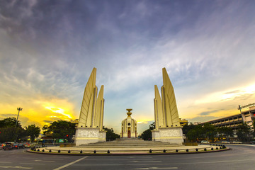 Democracy Monument in Sunset, Bangkok, Thailand