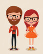Постер, плакат: Couple hipsters