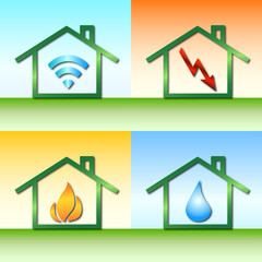 Internet-Strom-Wärme-Wasser - Haus