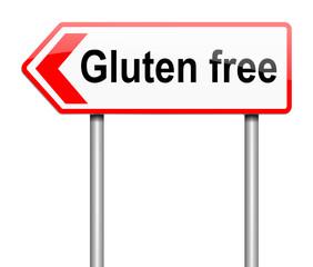 Gluten free concept.