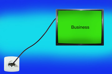 screen that says business