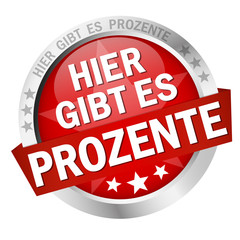 Button with banner Hier gibt es Prozente
