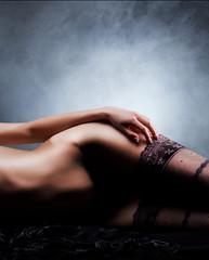 Naked body in the dark