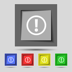 Attention sign icon. Exclamation mark. Hazard warning symbol.