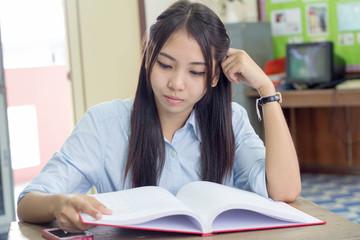 thai Woman Reading