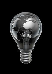 Earth bulb metal black