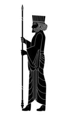 Persepolis Soldier Silhouette