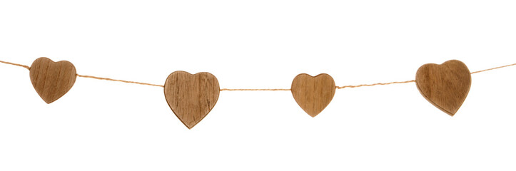 wooden heart garland