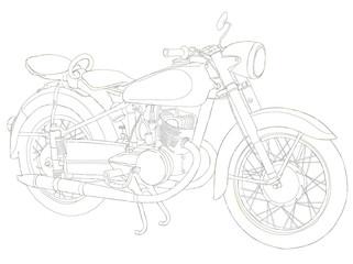 old bicycle urban sketch