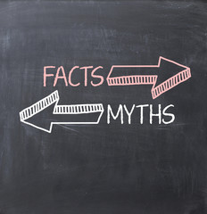 Separate myths over facts