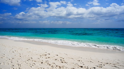 White sand beach stock footage