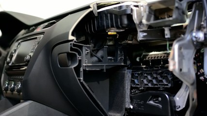 car dashboard - disassembled - look inside
