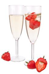 Erdbeeren Sekt
