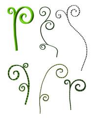 floral swirls 3d