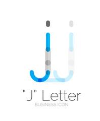 J letter logo, minimal line design