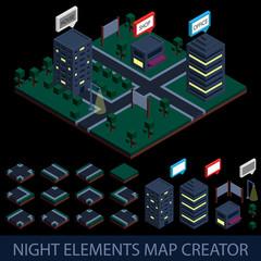 Isometric night elements map creator