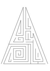 üçgen labirent