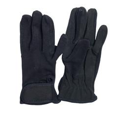 black economy gloves for riding  isolated on white