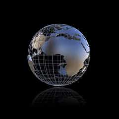 Metal earth globe