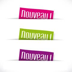 """Etiquettes """"Nouveau"""""""