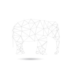 Abstract elephant isolated on a white backgrounds