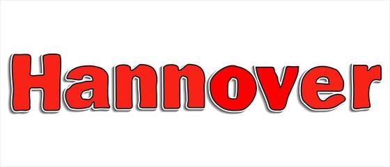 Hannover Lettern Überschrift große rote Buchstaben