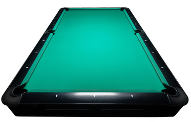 Table for billiards and ball top view