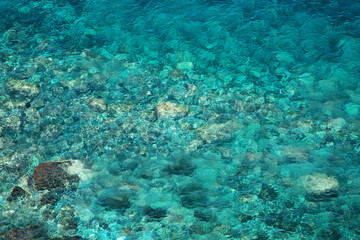 Background of transparent water