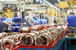 Fertigung am Fliessband im Maschinenbau