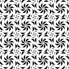 Black and white geometric seamless pattern.