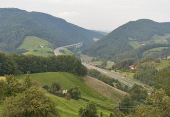Slovenia mountain highway