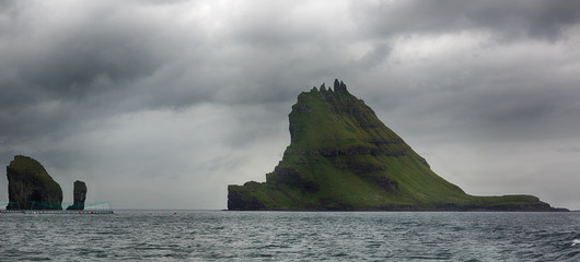 Tindholmur, Faroe islands.