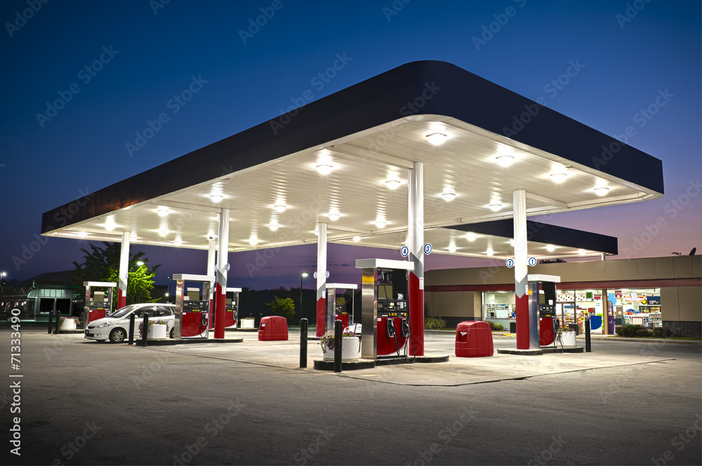 Attractive Gas Station Convenience Store
