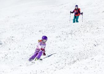 Little Girl on skis