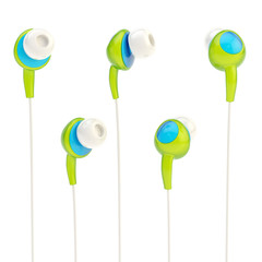 In-ear headphones isolated