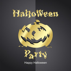 Halloween Gold Party new black background