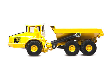 yellow dumper truck