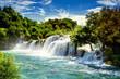 Leinwanddruck Bild - Waterfalls Krka