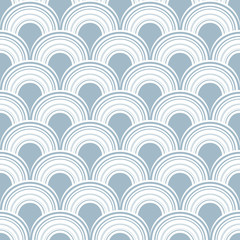 Seamless abstract modern arc vector pattern.