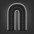 N letter. Road font - 71335437