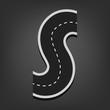 S letter. Road font - 71335458