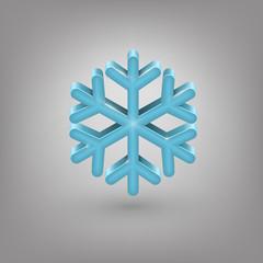 Icon weather. Snowflake
