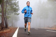 Leinwanddruck Bild - Healthy running runner man workout