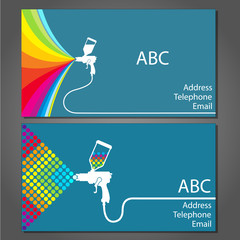 Business card for house painter