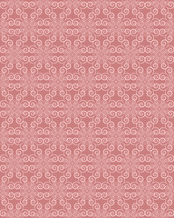 Pink Colors Wave Pattern. Korean traditional Pattern Design Seri